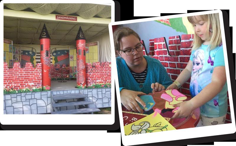 I Leklandet på Barnens Gård finns lugna aktiviteter för den pysslige.
