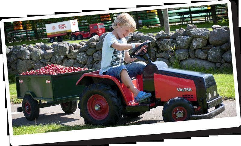 Här kan du prova dina färdigheter som traktorförare.
