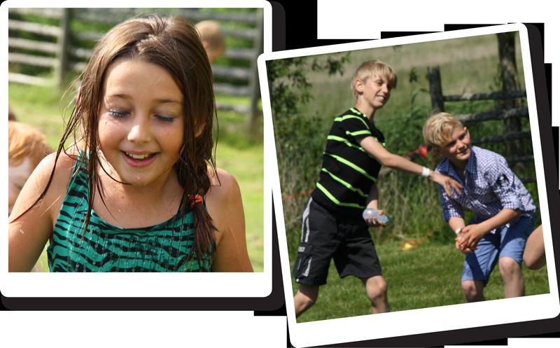 Bilder på glada barn som firar sin födelsedag hos oss med roliga aktiviteter.